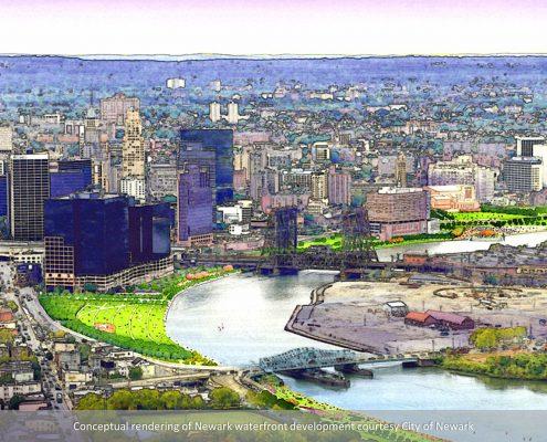 newark waterfront development rendering