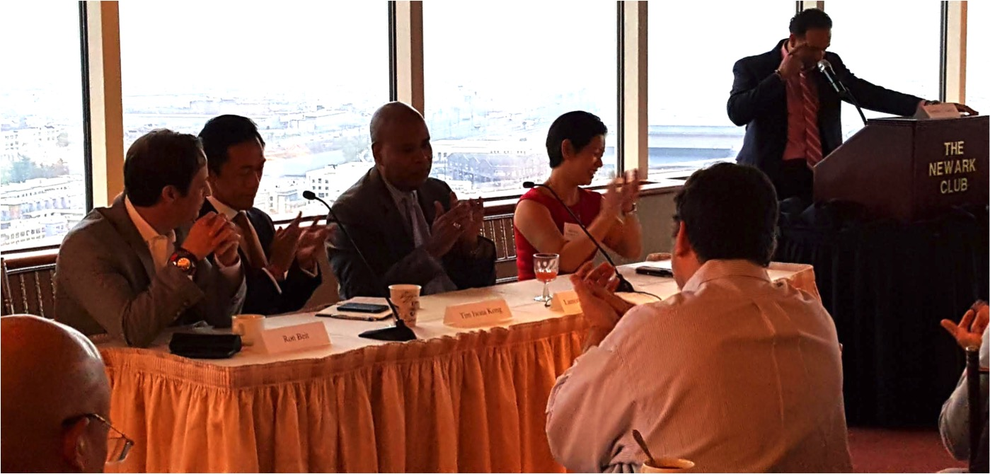 Panelists discuss creative financing options, including EB-5, at The Newark Club. Photo by Pamela B. Daniels