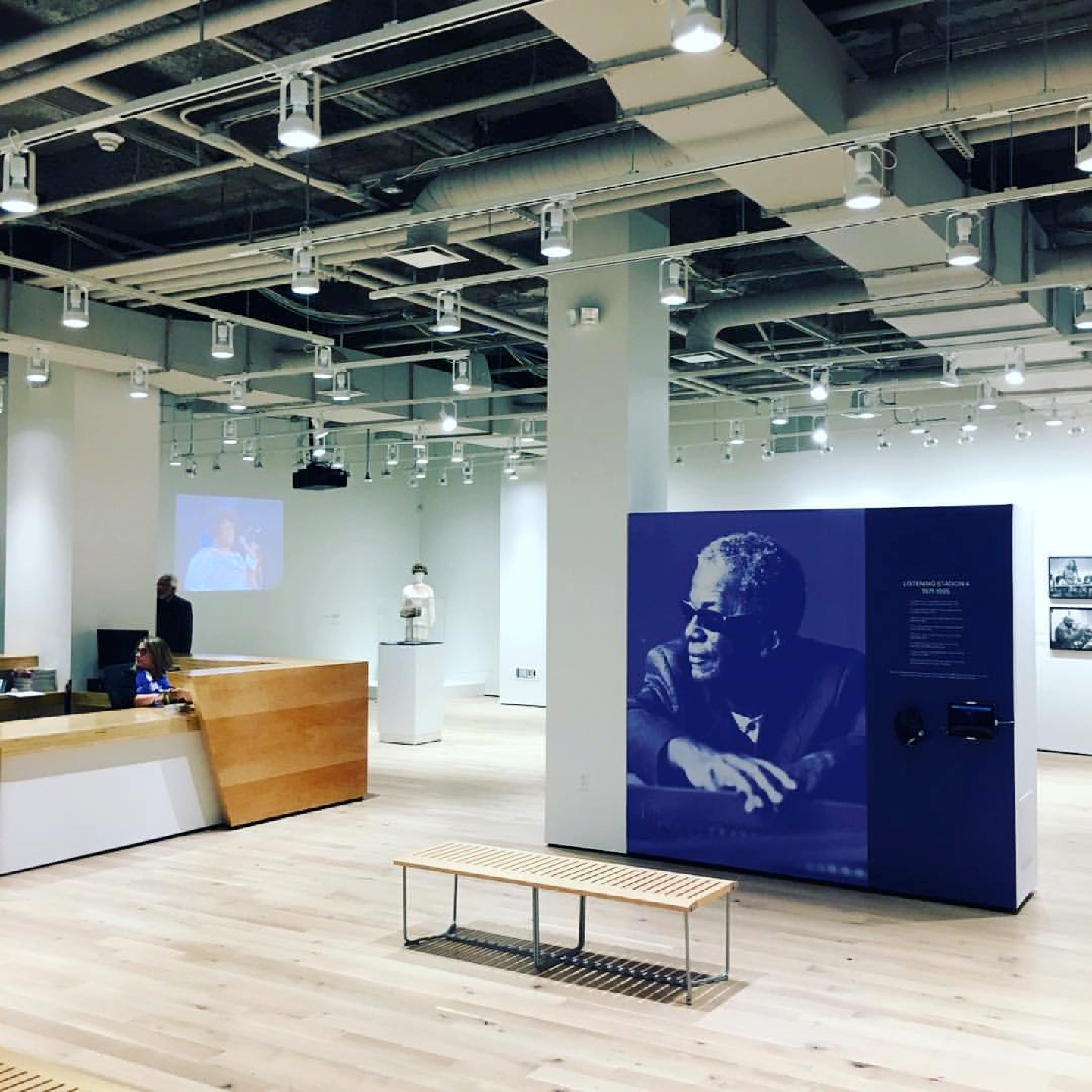 The gallery space at Express Newark in the Hahne's building. Photo courtesy KSS Architects.