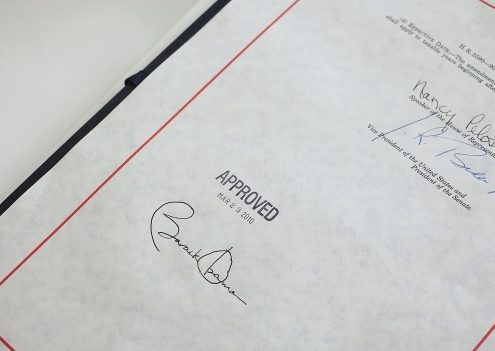 affordable care act signature