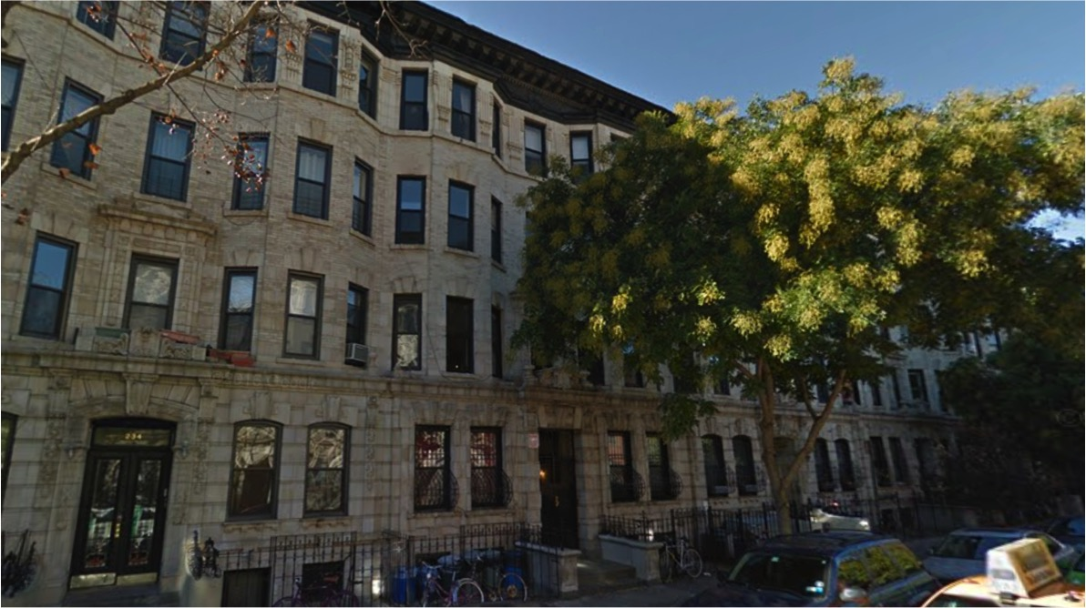 The Notorious B.I.G.'s Brooklyn apartment building. Apartment 3L, where he lived, sold for $825,000 in 2013. Image: Google Maps